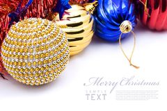 Christmas decoration objects Stock Image