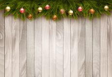 Christmas decoration on old wooden background. Stock Image