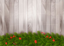 Christmas decoration on old wooden background. Royalty Free Stock Photography