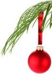 Christmas Decoration On Palm Leaf Stock Image