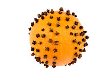 Christmas decoration - orange with cloves Stock Image
