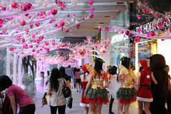 Christmas decoration at Orchard Central Stock Image
