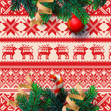 Christmas decoration, with ornament background Stock Photography