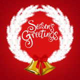 Christmas decoration and ornament. With Season`s Greeting text Stock Photos