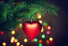 Christmas hanging heart Stock Image