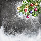 Christmas decoration with ornaments. Stock Image