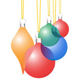 Christmas Decoration Ornaments Translucent Set Royalty Free Stock Image