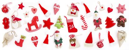 Free Christmas Decoration Ornaments White Background Royalty Free Stock Images - 126271199