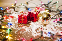 Christmas decoration ornements Royalty Free Stock Photos