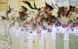 Christmas decoration outside the house Royalty Free Stock Image