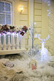 Christmas decoration outside the house Royalty Free Stock Photos