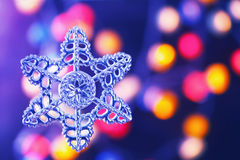Christmas decoration over blurred background Stock Photos