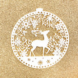 Christmas decoration over glittering golden background.  Vintage Royalty Free Stock Photos