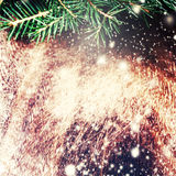 Christmas decoration over grunge background - Christmas fir tree Stock Photos