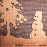 Christmas decoration over grunge background Stock Images