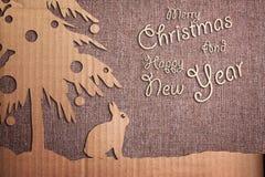 Christmas decoration over grunge background Royalty Free Stock Image