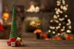 Christmas. Decoration over grunge background/vintage paper  card stock photos