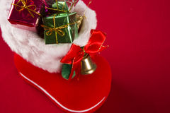Christmas. Decoration over grunge background/vintage paper  card royalty free stock images