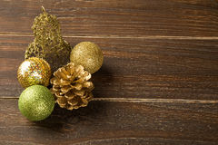 Christmas. Decoration over grunge background/vintage paper  card stock photo