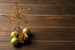 Christmas. Decoration over grunge background/vintage paper  card stock image