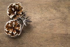 Christmas. Decoration over grunge background/vintage paper  card royalty free stock photos