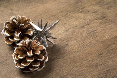 Christmas. Decoration over grunge background/vintage paper  card royalty free stock photo