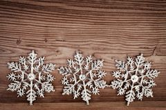 Christmas decoration over old wooden background Stock Photography