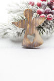 Christmas decoration over silver background. Royalty Free Stock Photo