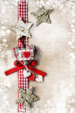 Christmas decoration over vintage background Stock Photos
