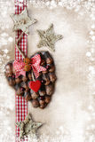 Christmas decoration over vintage background Royalty Free Stock Photos