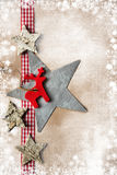 Christmas decoration over vintage background Royalty Free Stock Image