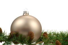 Christmas decoration over white background Stock Photos