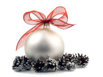 Christmas decoration over white background Royalty Free Stock Image