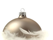 Christmas decoration over white background Stock Image