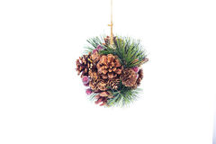 Christmas decoration over white Stock Photo