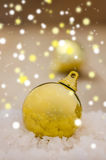 Christmas Decoration Over Wooden Royalty Free Stock Photos