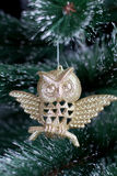 Christmas decoration, owl Stock Photos