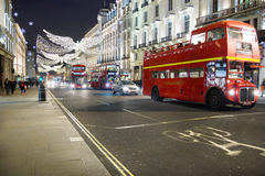 Christmas decoration in the Oxford Street, London Royalty Free Stock Photography
