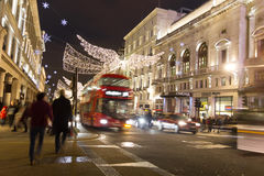 Christmas decoration in the Oxford Street, London Stock Image