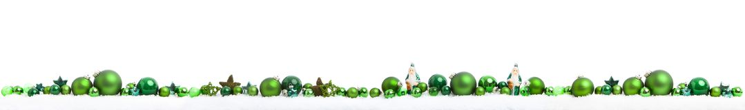Christmas panorama on white royalty free stock images