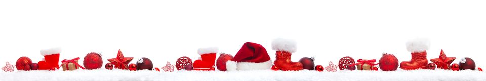 Christmas panorama on white stock photography