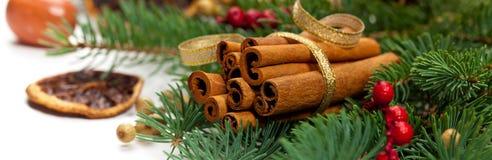 Christmas Decoration. Panoramic image. Royalty Free Stock Photo