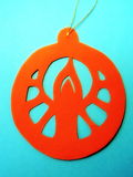 Christmas decoration. Paper cutting Royalty Free Stock Photo