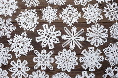 Christmas decoration with paper snowflake Royalty Free Stock Photo