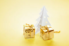 Christmas decoration - paper tree Royalty Free Stock Image