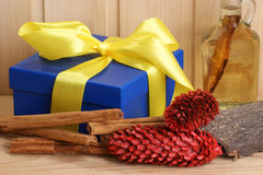 Christmas decoration with parcel Royalty Free Stock Photography