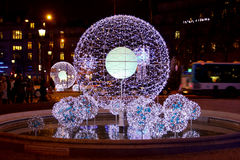 Christmas decoration in Paris Royalty Free Stock Photo