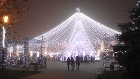 Christmas decoration park stock video footage