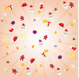 Christmas decoration. Decoration  christmas pattern candy Stock Photos