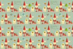 Christmas Decoration Pattern Stock Photography